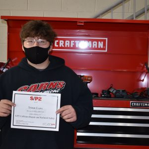 Tristan Evans, CCCTC Collision Student, Earns SP2 Certification