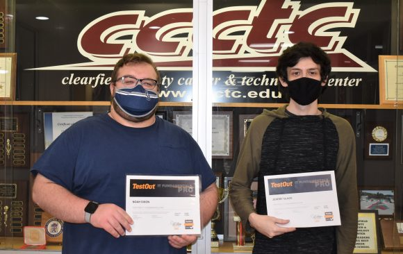 CCCTC Information Technology Students Earn TestOut IT Fundamental Pro Certification