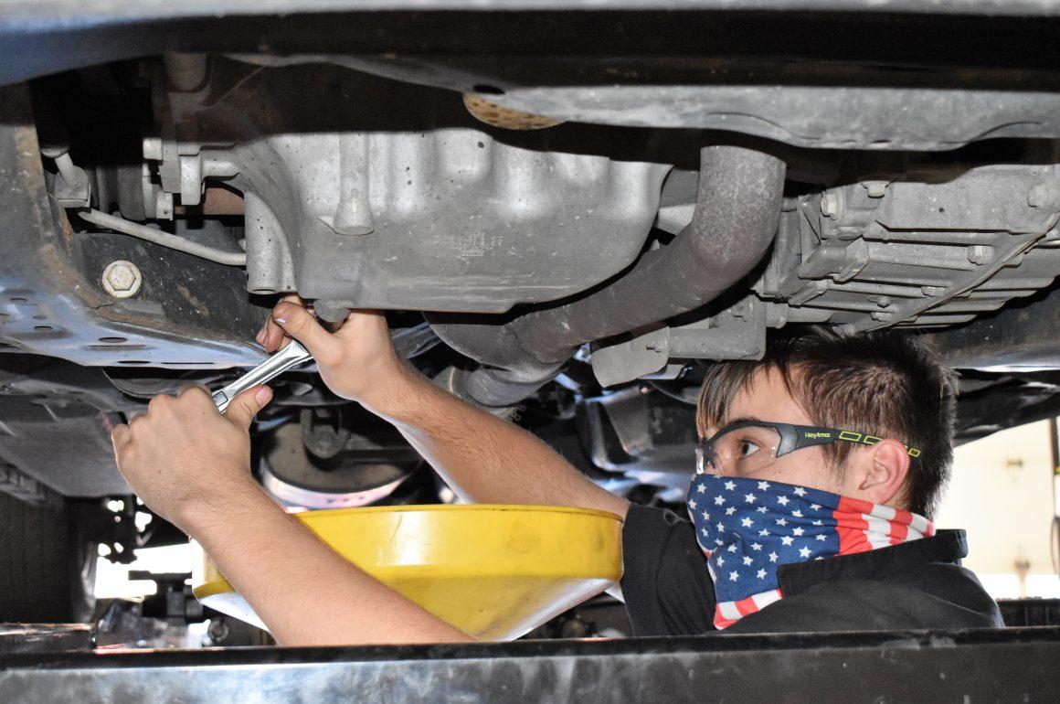 CCCTC Automotive Mechanics Technology Students Learning Proper Maintenance on Vehicles