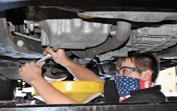 CCCTC Automotive Mechanics Technology Students Learning Proper Maintenance on Vehicles
