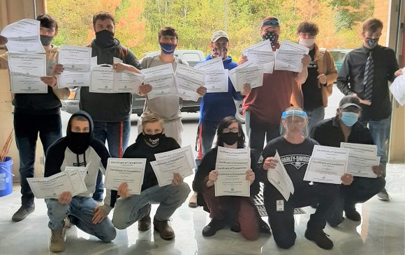 CCCTC HVAC/R Students Earn Ladder Safety Certifications