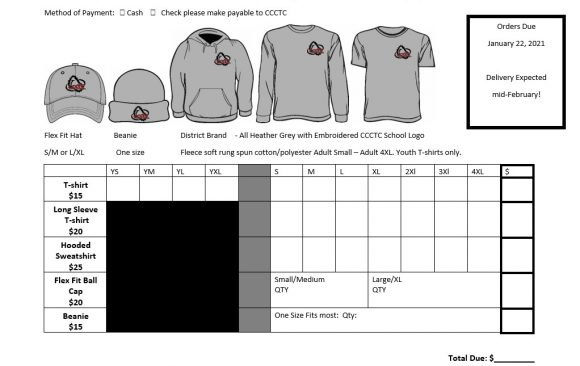 Order Your CCCTC Apparel