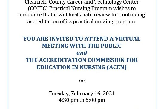 Practical Nursing Virtual Meeting With the Public Invitation