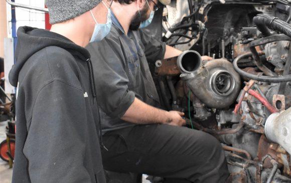 CCCTC Diesel Equipment Maintenance & Repair Students Rebuilding a Diesel Engine