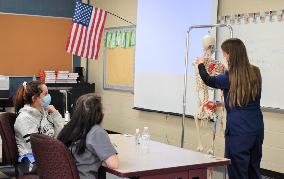 CCCTC Health Occupations Technology Students Learning Anatomy and Physiology