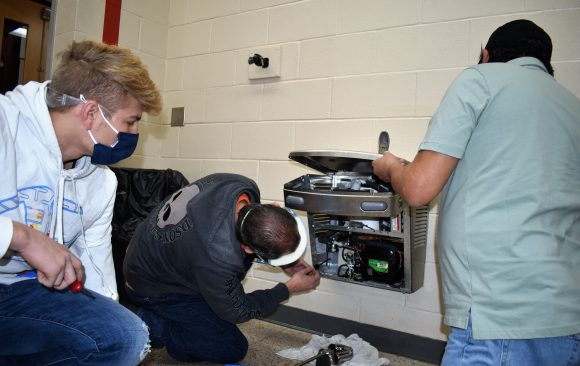 CCCTC HVACR Students Install New Water Filling Stations at CCCTC
