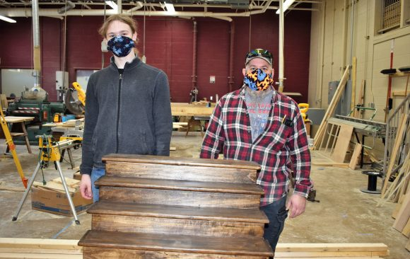 CCCTC Adult Carpentry & Building Construction Students Finish Project