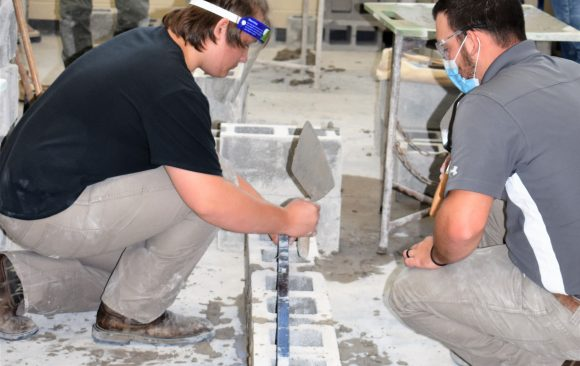 Masonry Students Learn Basics of the Trade