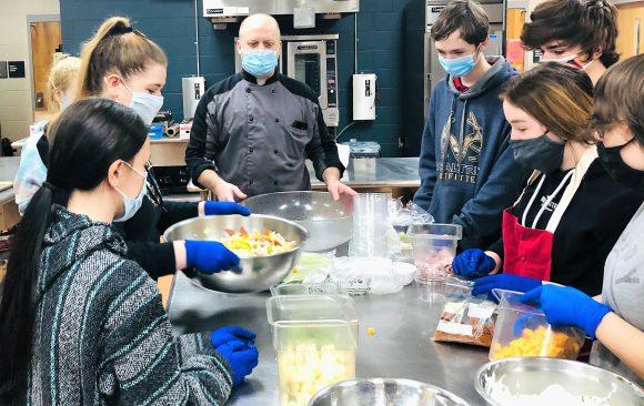 CCCTC Culinary Arts & Food Management Students Create Antipasto Dish