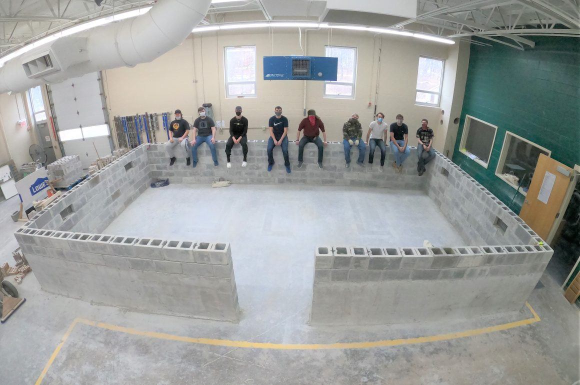 CCCTC Masonry Construction Students Complete Crawl Space Foundation Project