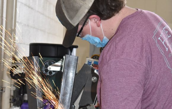 CCCTC Diesel Student, Curtis Thompson, Creates Support Bracket
