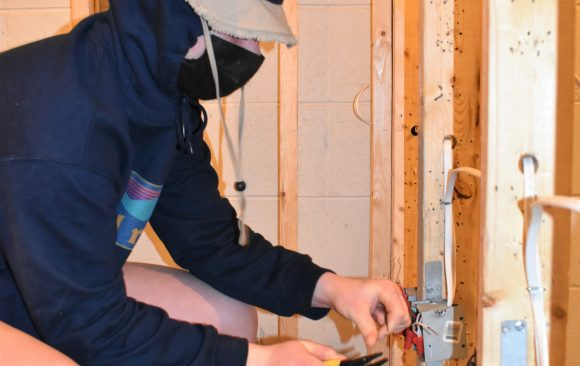 CCCTC Electrical Occupations Student Applying Skills with Hands-on Training
