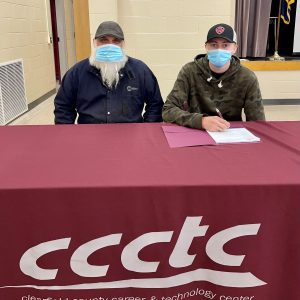 CCCTC Senior, Nick Frey, Signs Letter of Intent during Career & Technical Letter of Intent Virtual Signing Day